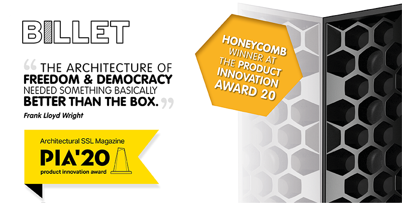 HONEYCOMB WINNER @ THE PRODUCT INNOVATION AWARD 2020